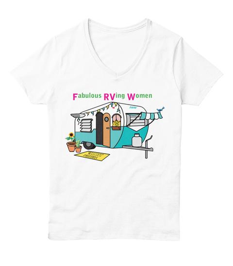 Fabulous Rving Women White  T-Shirt Front