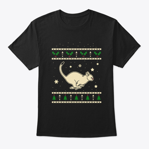 Christmas Abyssinian Gift Black T-Shirt Front