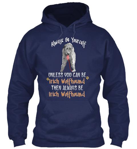 Love With My Irish Wolfhound Navy T-Shirt Front