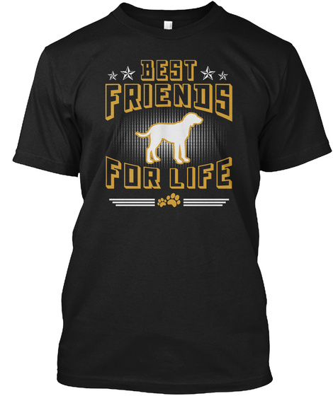 Poitevin Best Friends For Life Shirts Black T-Shirt Front