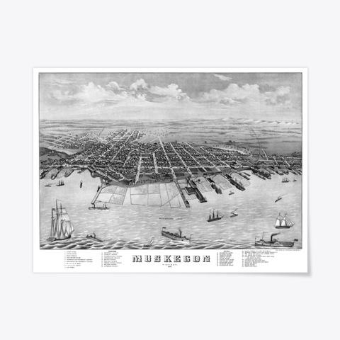 Muskegon, Mi 1874 Standard T-Shirt Front