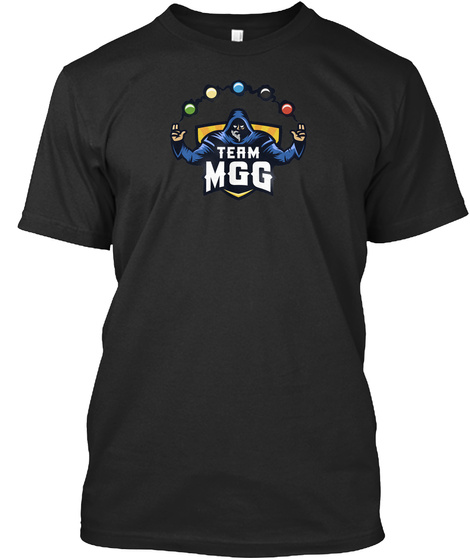 Team Mgg Black T-Shirt Front
