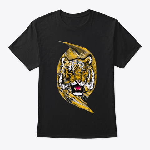 Eye Of The Tiger Black T-Shirt Front