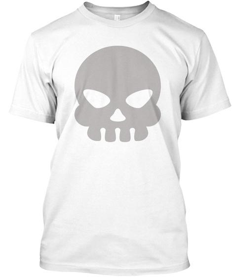 Skull Tee White T-Shirt Front
