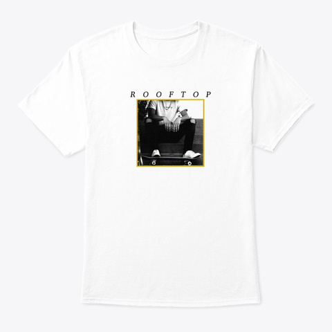 Rooftop Skate Graphic Tee White T-Shirt Front
