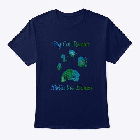 Nikita Lioness Paw Print Navy T-Shirt Front