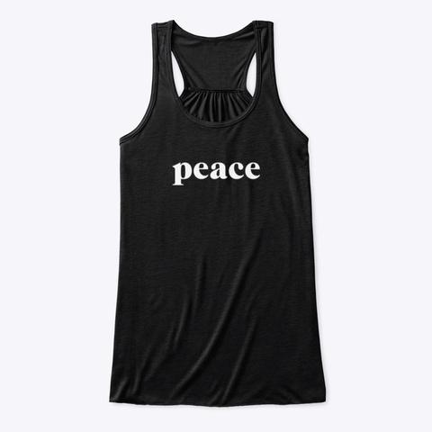 Tank Top: Peace Black T-Shirt Front