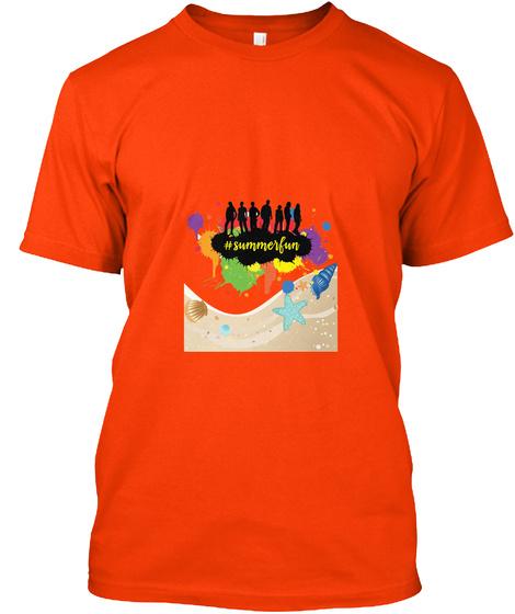 Summerfun Orange T-Shirt Front