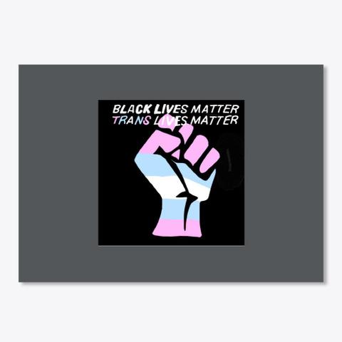 Black Trans Lives Matter  Dark Grey T-Shirt Front