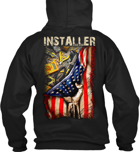 Installer Black T-Shirt Back