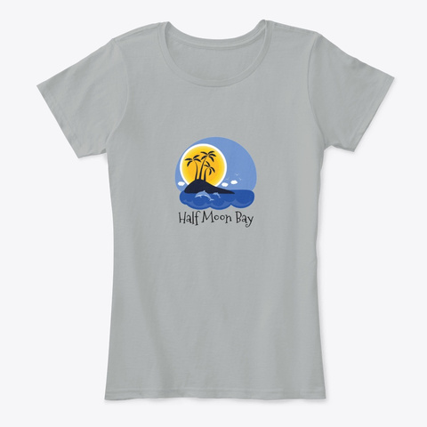 Half Moon Bay Turks And Caicos Grey T-Shirt Front