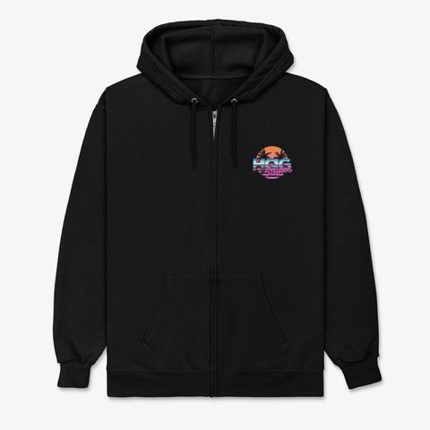 Hqg Studios Zip Up Hoodie Black T-Shirt Front