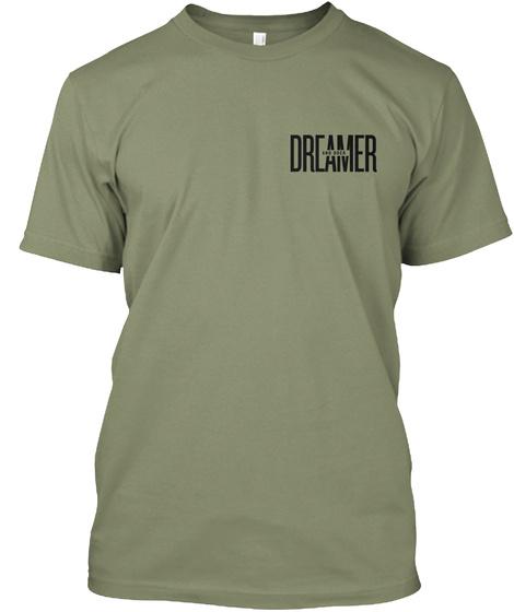 Dreamer And Doer Light Olive T-Shirt Front