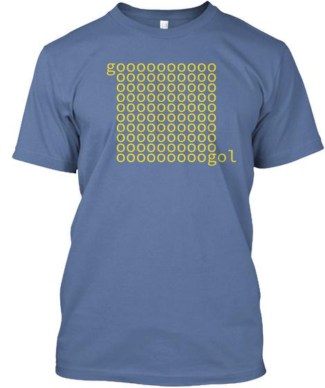 Googol, Typed Denim Blue T-Shirt Front