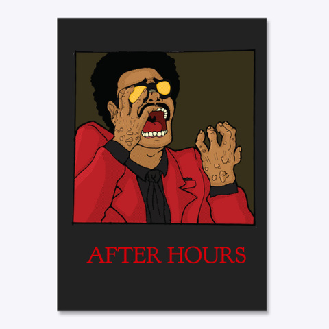 The After Hours (Falling Out) Black T-Shirt Front