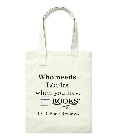 O.D. Book Reviews Natural Tote Bag Front