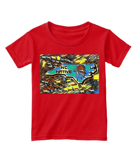 North Carolina Native American Art Red  T-Shirt Front