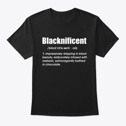 Blacknificient Floral Afro Hair T Shirt Black T-Shirt Front