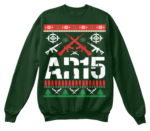 Ar15 Deep Forest  Sweatshirt Front