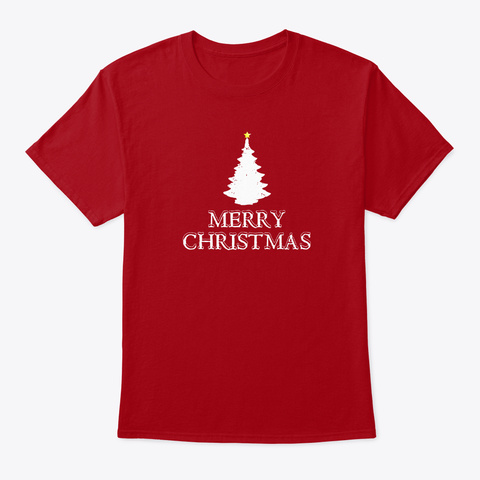 Merry Christmas Deep Red T-Shirt Front