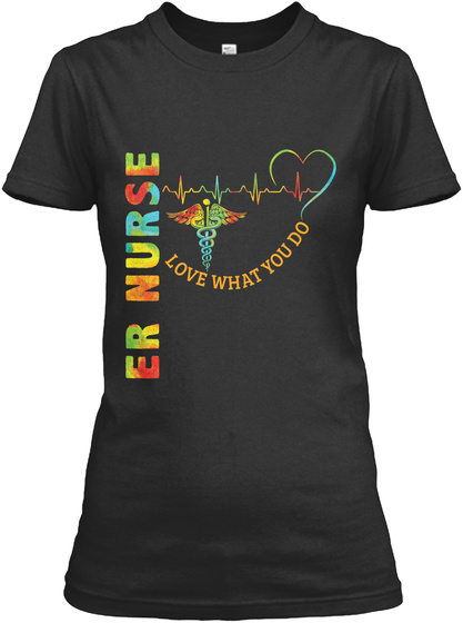 Awesome Er Nurse Shirt Black T-Shirt Front