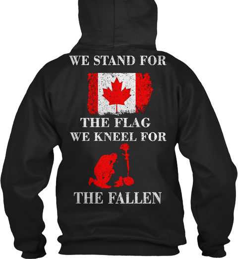Veteran Canada Black T-Shirt Back