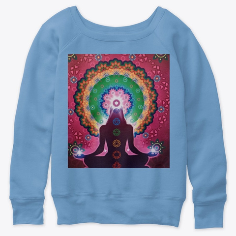 The Power Of Meditation Blue Triblend  T-Shirt Front