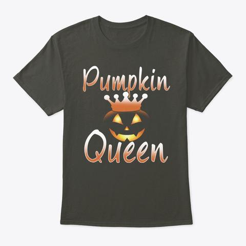 Halloween Pumpkin Queen Smoke Gray T-Shirt Front