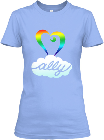 Ally Light Blue Women's T-Shirt Front
