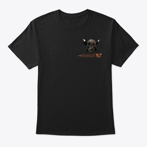 Hegshot87 Merch Black T-Shirt Front
