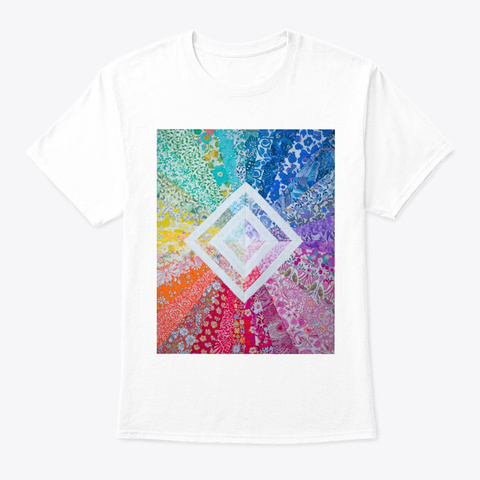 Rainbow Love White T-Shirt Front