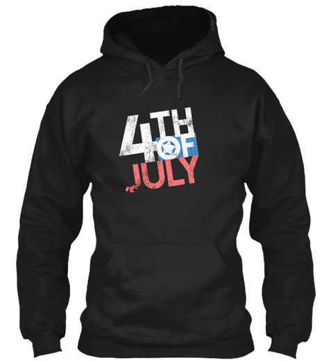 Independence Day Black T-Shirt Front