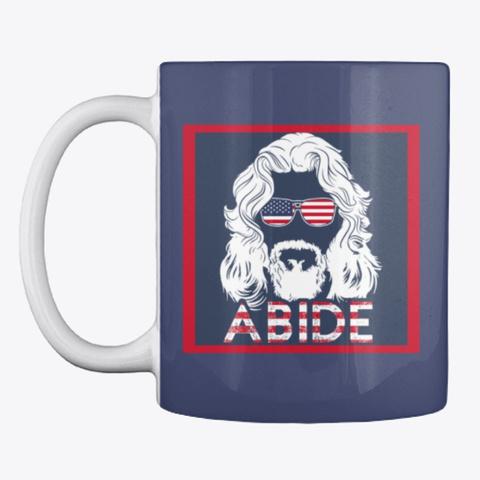The Dude Usa Abide Dark Navy T-Shirt Front