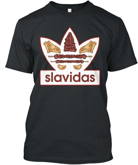 Slavidas Black T-Shirt Front