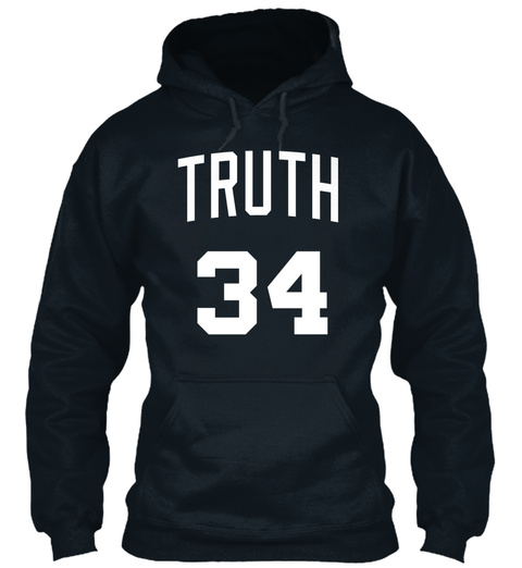 Truth Jersey Script 2 French Navy Sweatshirt Front