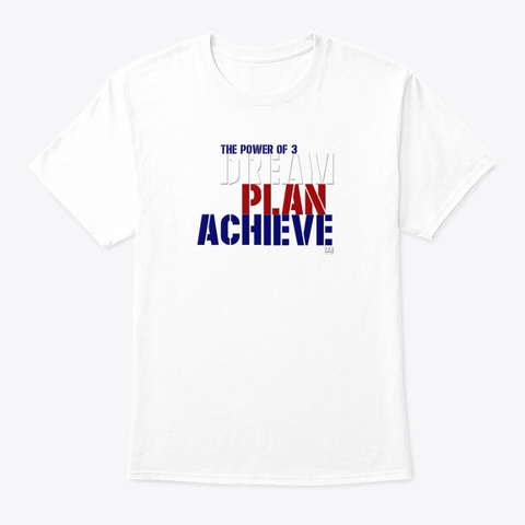 The Power Of 3 France White T-Shirt Front
