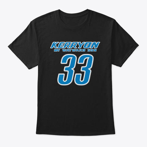 Kerryon My Wayward Son Detroit Football Black T-Shirt Front