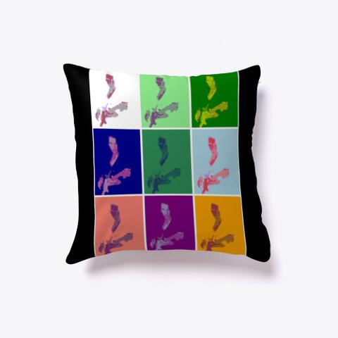 Daniel Dalley   Art Deco Pillow Emblem Black T-Shirt Front