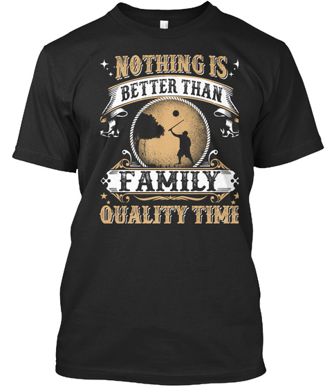 Family Time Black T-Shirt Front