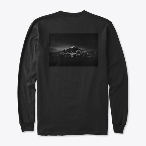 Jch Streetpan Mt. Fuji Long Sleeve Black T-Shirt Back