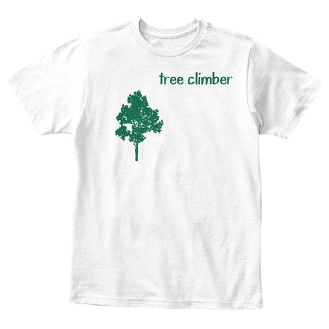 Tree Climber White T-Shirt Front