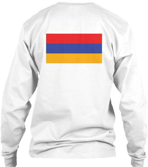 Kiss Me, I'm Armenian White T-Shirt Back