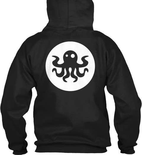 Minimal Squid Black T-Shirt Back