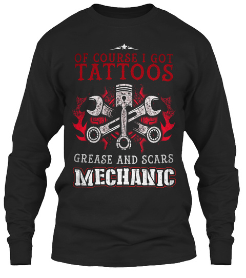 Mechanic Shirts 018 Black T-Shirt Front