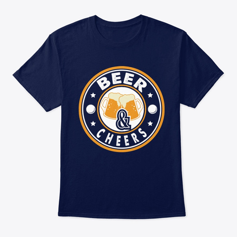 Beer & Cheers T Shirt Navy T-Shirt Front