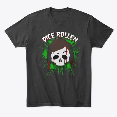 Dice Rollen Logo Black T-Shirt Front