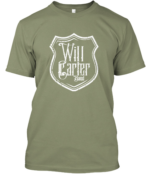 Will Carter Band Light Olive T-Shirt Front