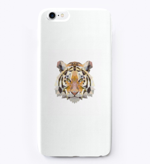 Tiger Phone Case White T-Shirt Front