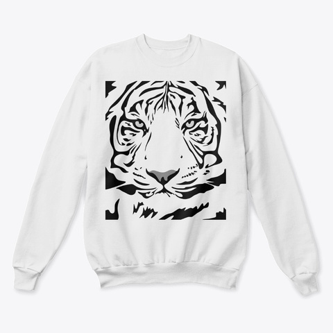 Siberian Tiger White  T-Shirt Front