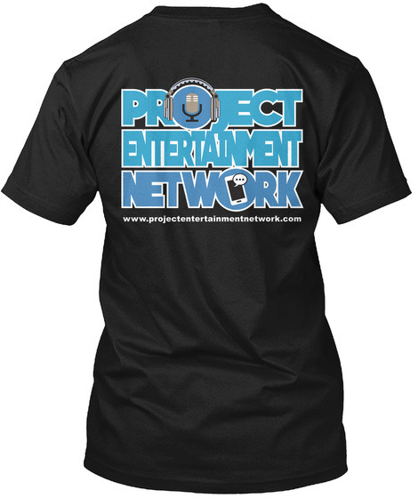 Project Entertainment Network Black T-Shirt Back